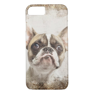 French Bulldog Vintage Portrait iPhone 7 Case