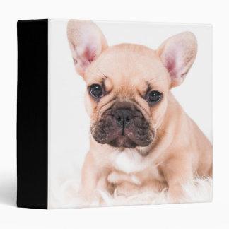 French bulldog. vinyl binders