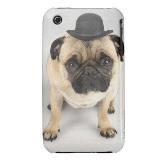 French bulldog wearing bowler, studio shot iPhone 3 covers