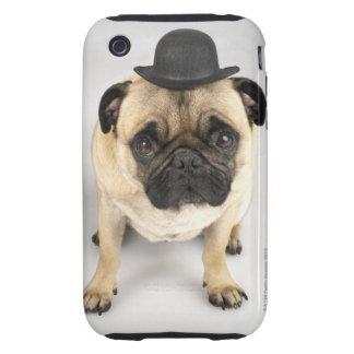 French bulldog wearing bowler, studio shot iPhone 3 tough cases