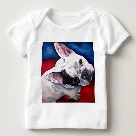 French Bulldog, White and Black Baby T-Shirt