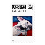 French Bulldog, White and Black Postage Stamp