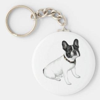 French Bulldog (white with black) Keychains