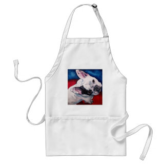 French Bulldog White with Patch Adult Apron