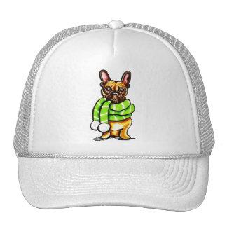 French Bulldog Winter Scarf Custom Color Trucker Hat