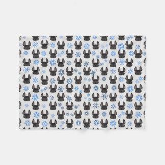 French Bulldog Winter Wonderland Fleece Blanket