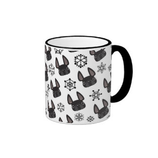French Bulldog Winter Wonderland Mug Black