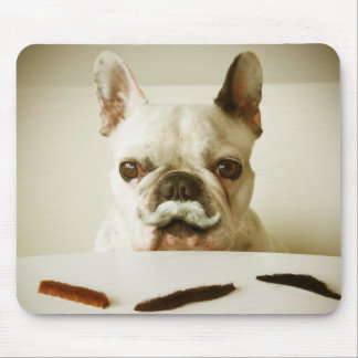 French Bulldog With A Mustache Mouse Pad