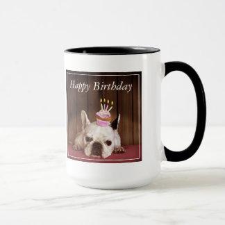 French Bulldog With Birthday Cupcake Mug