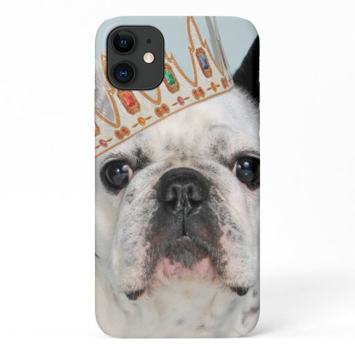 French Bulldog with Crown iPhone 11 Case