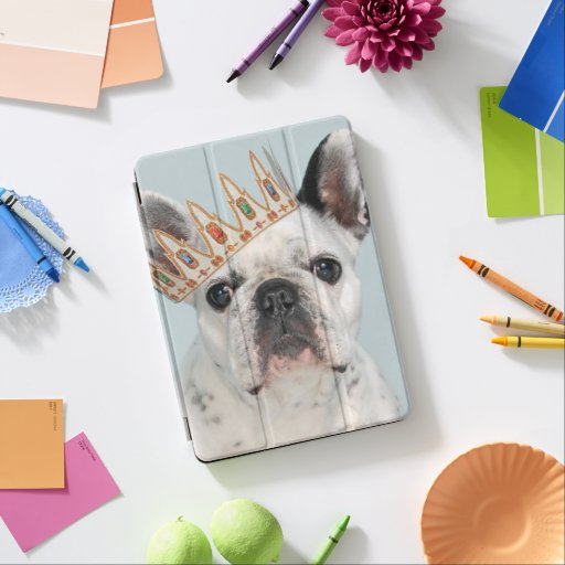 French Bulldog with Crown iPad Pro Cover