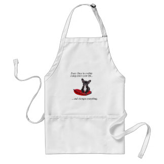 French Bulldog with heart and nice quote Adult Apron