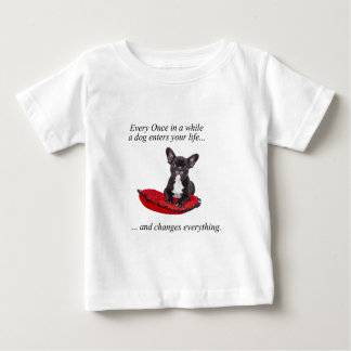 French Bulldog with heart and nice quote Tee Shirt