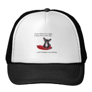 French Bulldog with heart and nice quote Trucker Hat