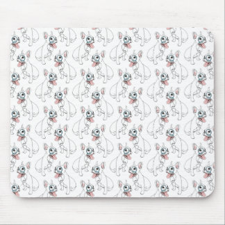 French bulldog with monocle pattern mouse pad