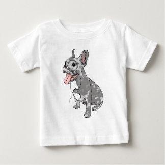 French bulldog with monocle tee shirt