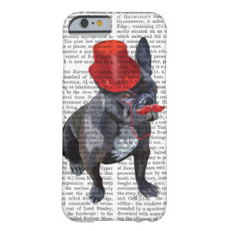 French Bulldog With Red Top Hat and Moustache Barely There iPhone 6 Case