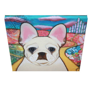 French Bulldog wrapped canvas Wizard of Oz