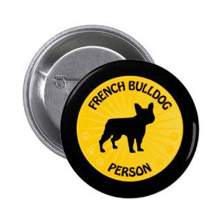 French Bulldog Xing Pinback Button