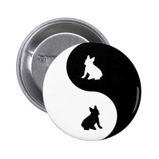French Bulldog Yin Yang Button