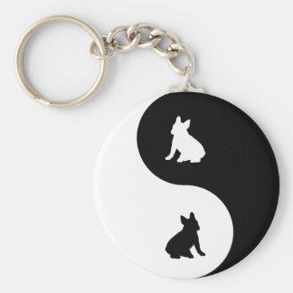 French Bulldog Yin Yang Keychain