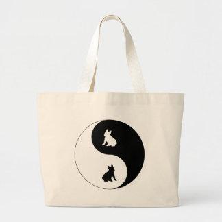 French Bulldog Yin Yang Large Tote Bag