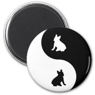 French Bulldog Yin Yang Magnet