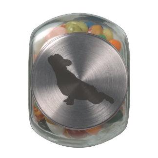 French Bulldog Yoga Pose Glass Jar