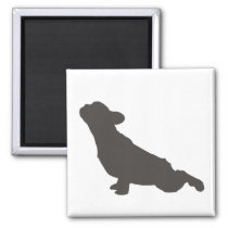 French Bulldog Yoga Pose Magnet