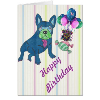 French Bulldogge greeting maps Greeting Cards