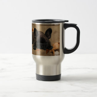 French Bulldogge travel cup 15 Oz Stainless Steel Travel Mug