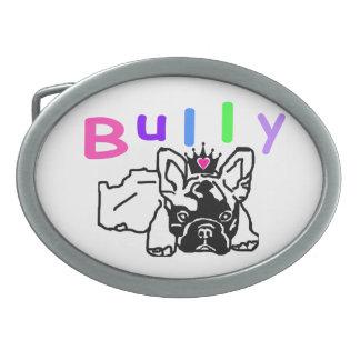 French Bulldoggen Gürtelschnalle Oval Belt Buckle