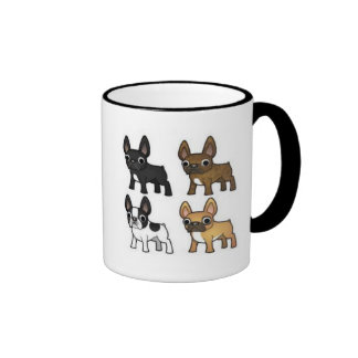 French Bulldogs Are The Best Ringer Coffee Mug