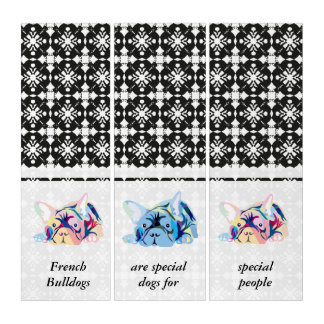 French Bulldogs Banner Triptych
