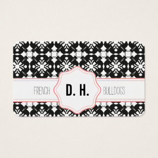 French Bulldogs Black and pink ones Business Card