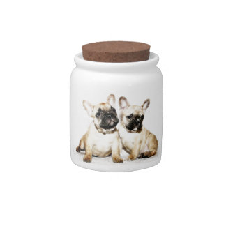 French Bulldogs Candy Jars