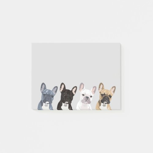 French Bulldogs | Cute Frenchie Pet Dog Post-it Notes
