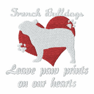 French Bulldogs Leave Paw Prints Embroidered Shirt