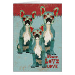 French Bulldogs Love Card