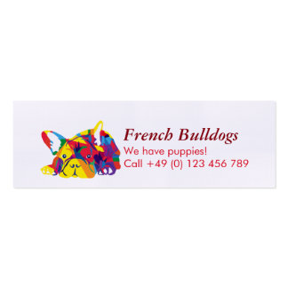 French Bulldogs Mini Business Card