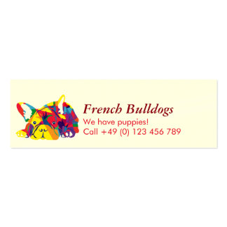 French Bulldogs Mini Business Card
