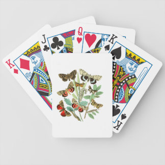 French Butterflies Bicycle Playing Cards