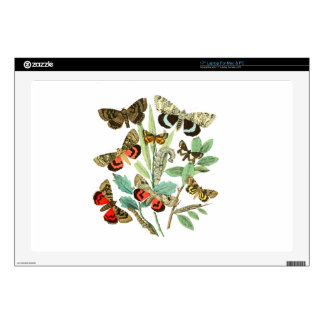 """French Butterflies Decal For 17"""" Laptop"""