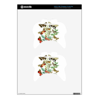 French Butterflies Xbox 360 Controller Skin