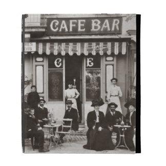 French cafe bar street scene iPad case