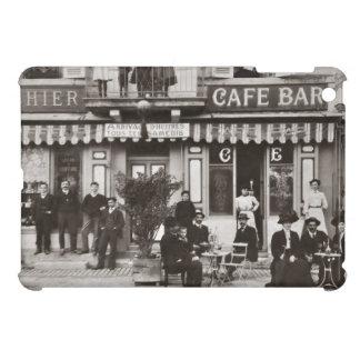 French cafe bar street scene iPad mini covers