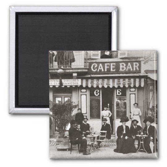 French cafe bar street scene magnet