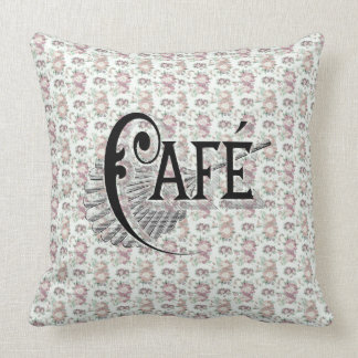 French Cafe Chic Shabby Floral Pattern. Pillow