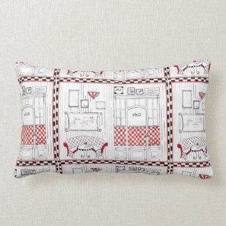 """""""French Cafe Lumbar Pillow"""