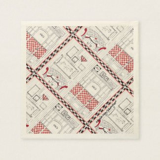 French Cafe Paper Napkin